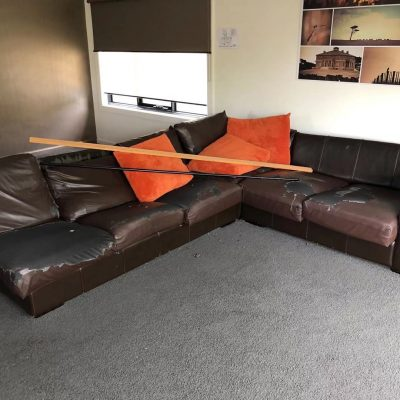 Couch Removal Before